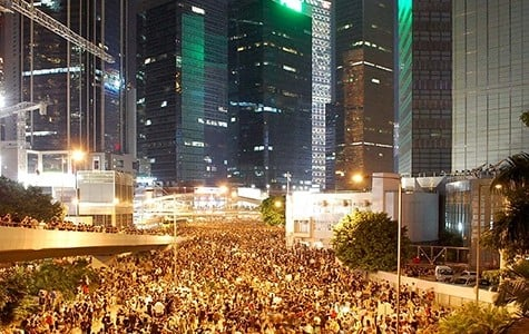 Students protest in Hong Kong for better representation