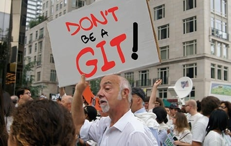 Goofordian: DBAG protesters campaign against worldwide stupidity