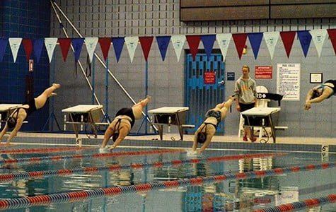 Women's swim team: small fish in a big pond