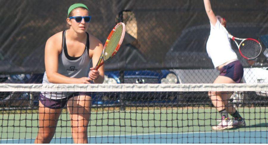 Men and women's tennis ace teamwork