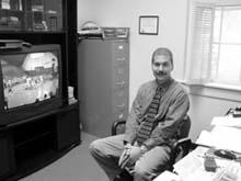 Tom Palombo, men´s basketball coach (Megan Miller/ Guilfordian)