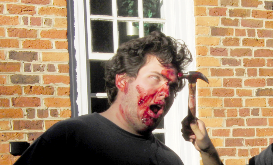 Guilford students fought back against the zombie menace on Nov. 5 (Courtesy of Don Smith)