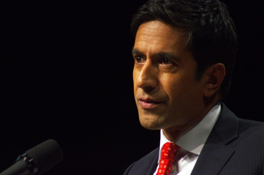 Sanjay Gupta visited Guilford on Nov. 29. He spoke of health from a practicing doctor and journalists point of view. (Sharp Hall)