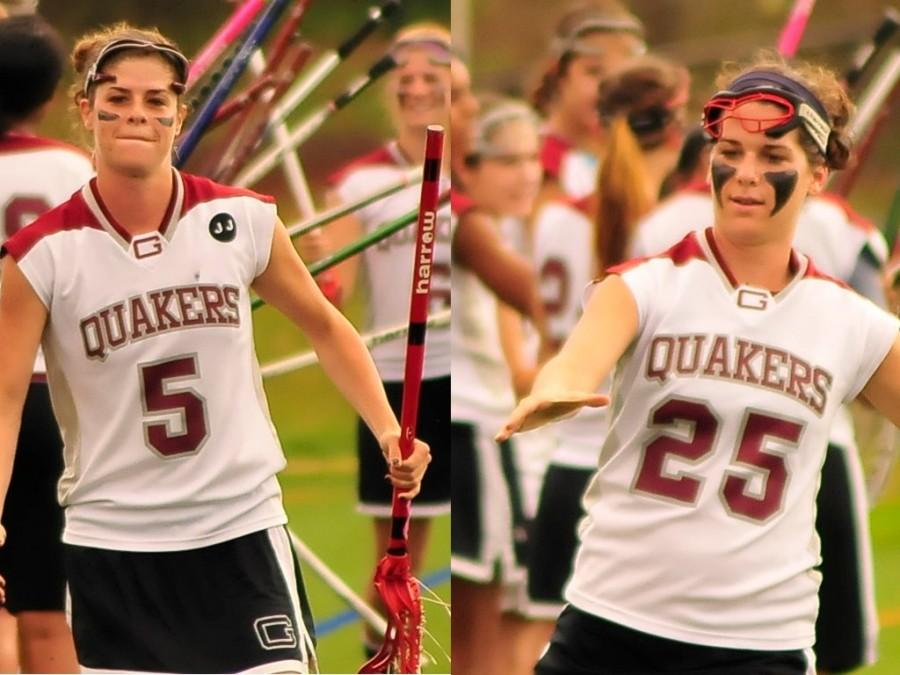 Sophomores Lily (left) and Becca (right) Colley shed light on success as siblings on a college lax team