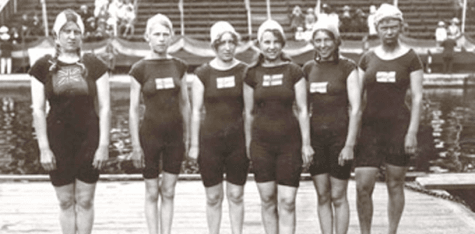 _swedish and british swimmers FROM ROYAL LONDON ARCHIVES