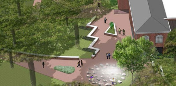 Administration makes plans to build fountain, plaza