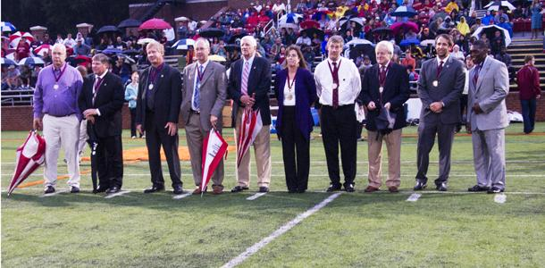 Guilford Athletics Hall of Fame inductees honored