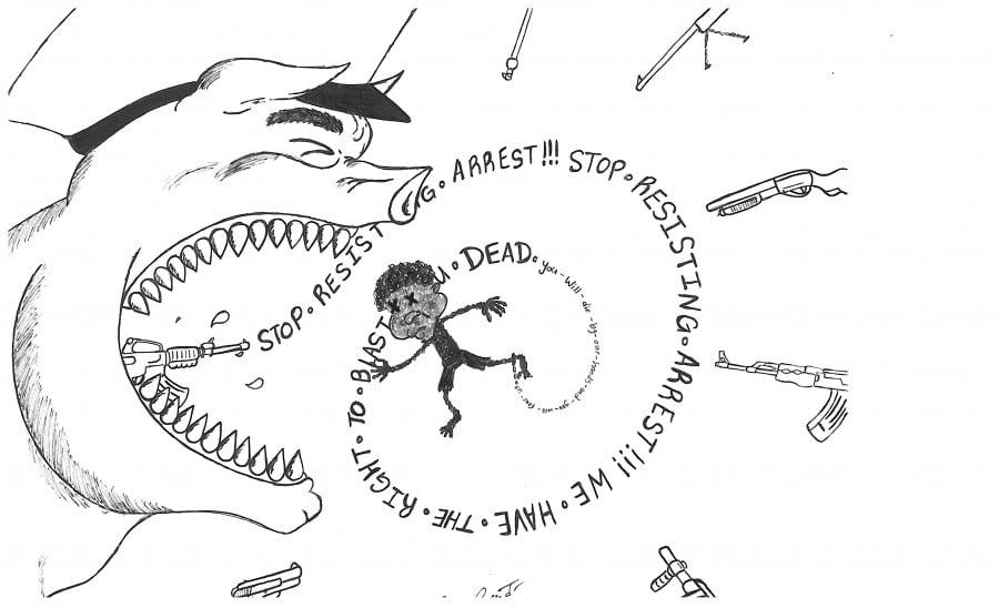 Cartoon on police brutality