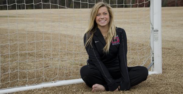 Caroline Bishop excels in soccer, motivates the team
