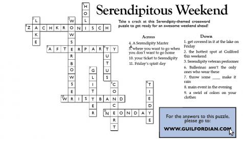 Serendipity crossword solutions