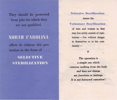 North Carolina compensates victims of eugenic sterilization