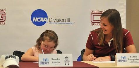 Lacrosse signs Brooke Austin, age 8