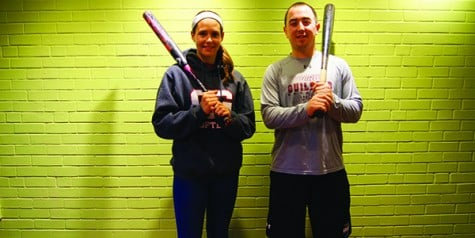 Seniors Calli Pastor and Kyle Humphrey pose, ready for the season to begin.