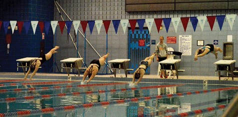 Women's swim team: small fish in a big pond