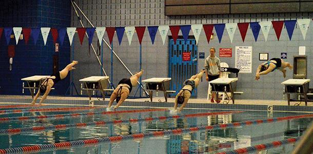 The swim team practices at Greensboro's Hebrew Academy last year.