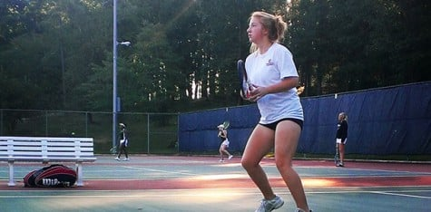 Women's tennis team grows this semester, becomes a force to be reckoned as they reinforce solidarity