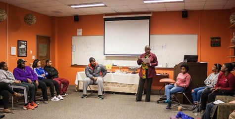 "Barbara Lawrence facilitates a conversation on colorism and the implications of using the ""N"" word during a BUS kickback."