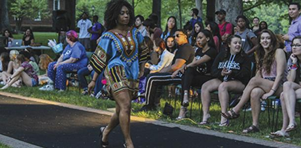 Tesia Burton '16 walked the runway on April 25.