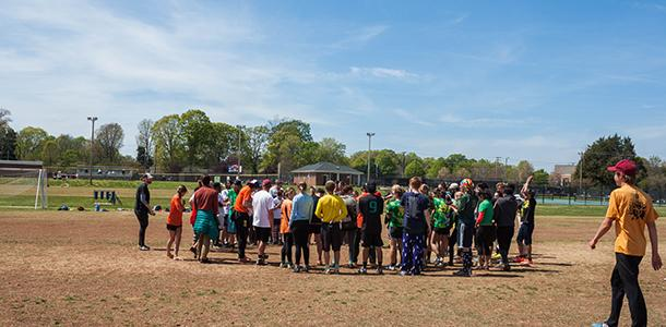 Guilford+hosted+the+annual+Ultimate+tournament+on+April+9+and+10%2C+bringing+together+both+current+student+and+alumni+Frisbee+devotees