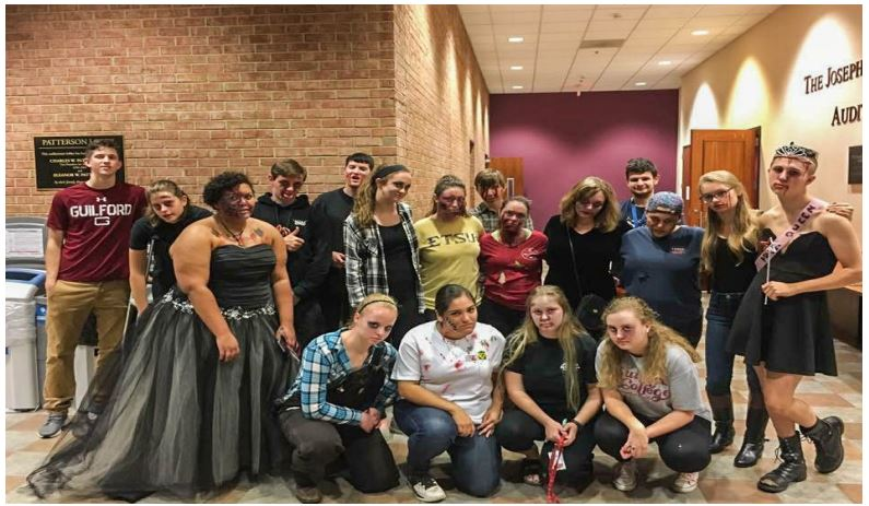 Heather Hayton's first year students successfully organize ZombCon, a Halloween themed event with movies and games, this past Saturday Oct. 29.