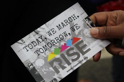 RISE movement organization reminds demonstrators that marching is only the beginning.