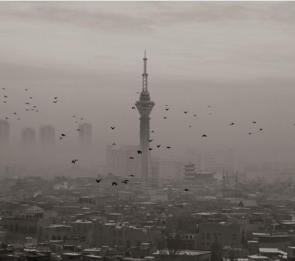Eric Mortensen, associate professor of religious studies, captured this image atop a building this past January.