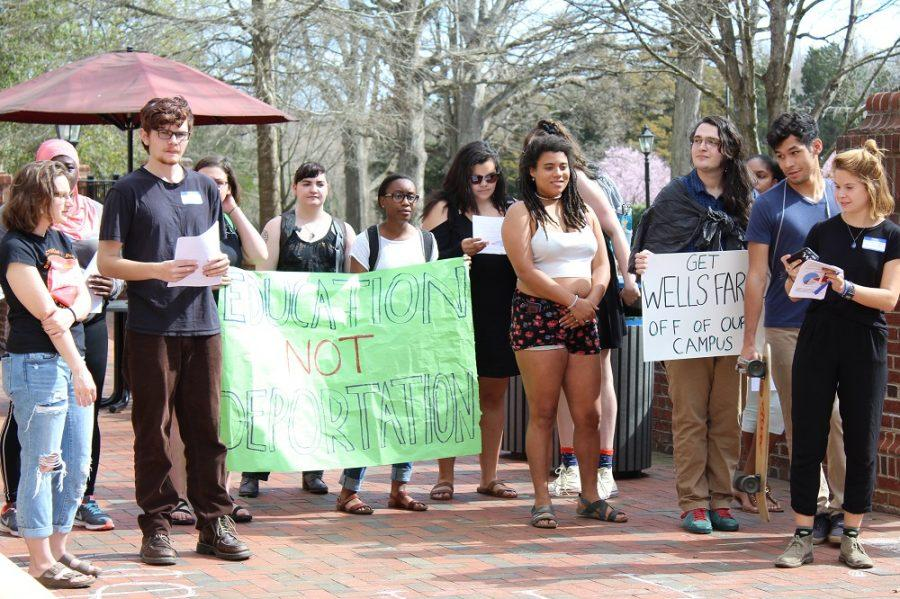 February 24, 2017, Integrity for Guilford hosted a speak-out protest in front of Founders Hall.