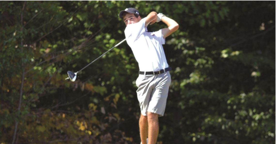 Harrison Frye, junior, shot an even-par 73 to help the Quakers win over Hope College and Luther College on Wed. March 22, 2017. // Photo courtesy of Guilford Athletics