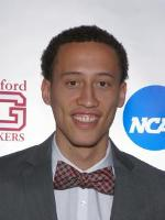 Guilford College assistant men's basketball coach Ronnie Thomas was recognized by the National Association of Basketball Coaches (NABC) as a recipient of their 2016-17 Under Armour 30-under-30 honors.  Photo courtesy Guilford Athletics