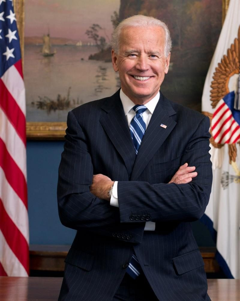 Official portrait of United States Vice President Joe Biden in his West Wing Office at the White House.// Photo courtesy the White House/
