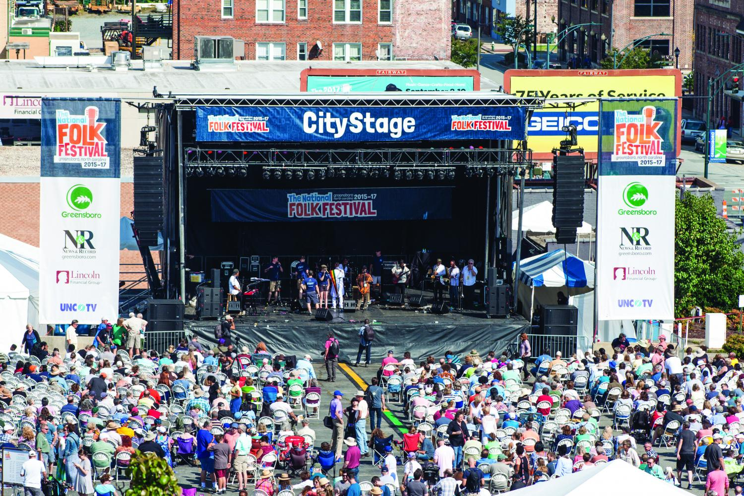 The National Folk Festival featured six different stages throughout downtown Greensboro featuring musical pieces, dance performances and folklife demonstrations. This is the last year the city of Greensboro will be hosting the free festival which took place from Friday, Sept. 8 to Sunday Sept. 10 2017.//Photo by Fernando Jimenez/The Guilfordian