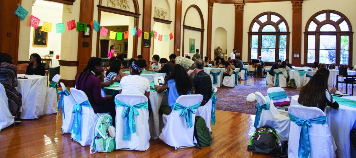 The+annual+Latinx+Banquet+took+place+on+thurs.+Sept.+26%2C+2017+in+the+Carnegie+room+at+Hege+library.+During+the+opening+speech+Irving+Zavaleta+Jimenez+%E2%80%9808+quoted+Cesar+Chavez%2C+%E2%80%9CThis+fight+is+never+about+grapes+or+lettuce.+It+is+always+about+people%E2%80%9D+which+left+an+impact+on+the+attendees+of+the+banquet.+The+event+was+filled+with+music%2C+food%2C+information+about+the+Latinx+culture+and+ongoing+conversations+around+DACA.+%2F%2F+Photo+by+Fernando+Jim%C3%A9nez%2FThe+Guilfordian