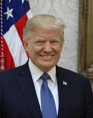 President Donald Trump poses for his official portrait at The White House, in Washington, D.C., on Friday, October 6, 2017.  By Shealah Craighead - https://www.whitehouse.gov/the-press-office/2017/10/31/white-house-releases-official-portraits-president-donald-j-trump-and, Public Domain, https://commons.wikimedia.org/w/index.php?curid=63768460