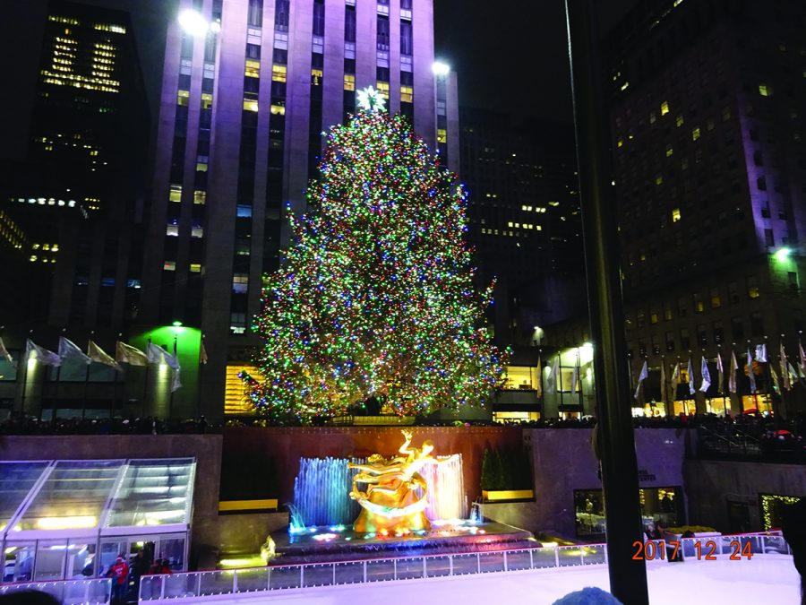Etsuo Fujita visited New York City over break and took a picture of the Christmas tree at Rockefeller Center on Dec. 24. Photo by Etsuo Fujita/The Guilfordian