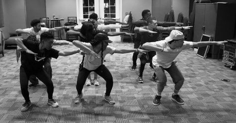 Guilford College brings the first ever step team to campus. Members are working hard to learn the steps and perfect the art. //Photo by Abigail Bekele/The Guilfordian