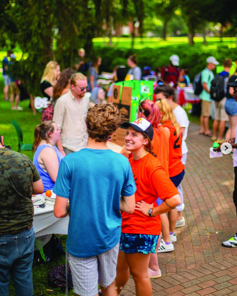 The club fair allowed students to learn about the over 20 campus organizations active in the school. // Photo courtesy of Guilford College