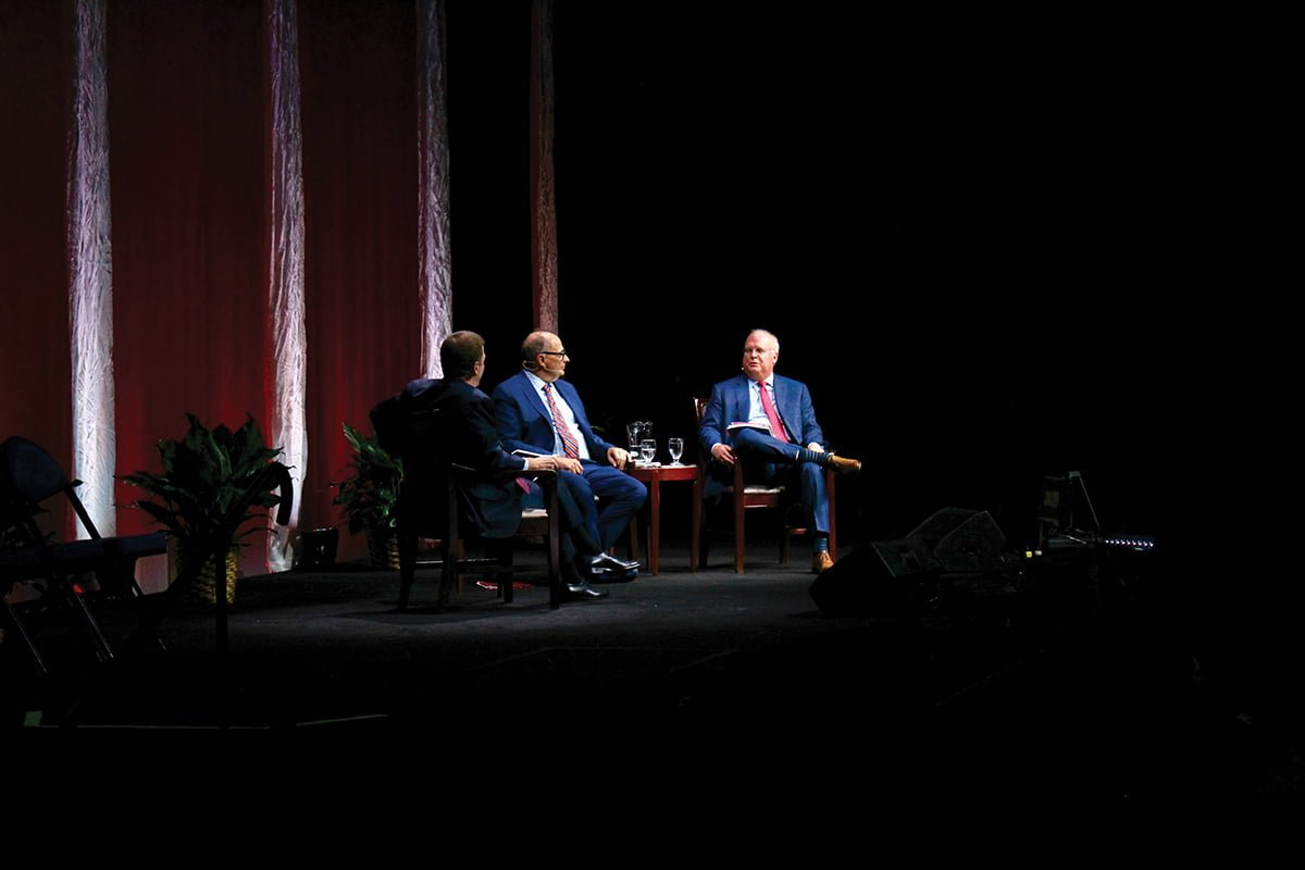 High-profile political strategists David Axelrod and Karl Rove served as the first Bryan Series speakers of the 2018-2019 program. // Photo by Finn Williamson/The Guilfordian