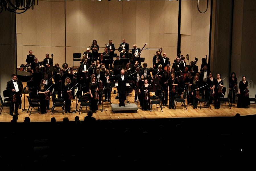 Greensboro Symphony Orchestra performs with Southwest Guilford High School at Gulford