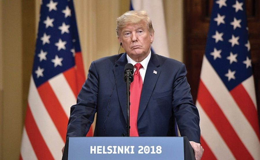 US President Donald Trump I.N.F Treaty