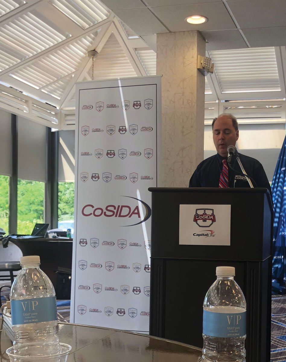 Dave Walters gives a presentation at the first CoSIDA U Camp in Maryland during the summer of 2018.//Photo By DaeQuan Fitzgerald/The Guilfordian