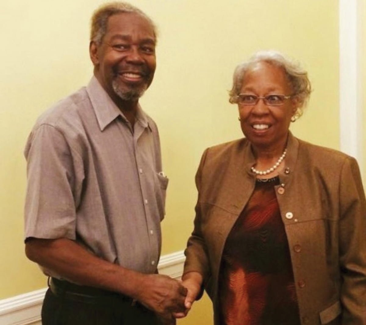 James McCorkle '66 and Linda Moore Banks '66 were the first African-American graduates of Guilford College.//photo courtesy of Toiya L. Hancock '93