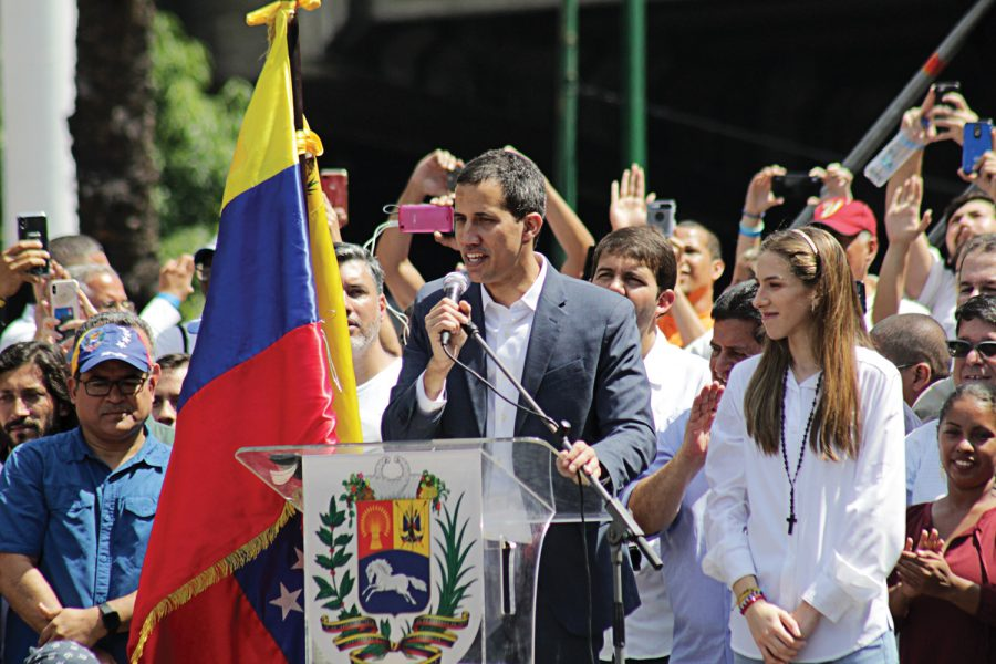 Juan+Guaido+speaks+at+a+protest+against+Nicol%C3%A1s+Maduro+on+Feb.+2%2C+2019+in+Caracas%2C+Venezuela.%2F%2FPhoto+Courtesy+Alexcocopro%2FWikimedia