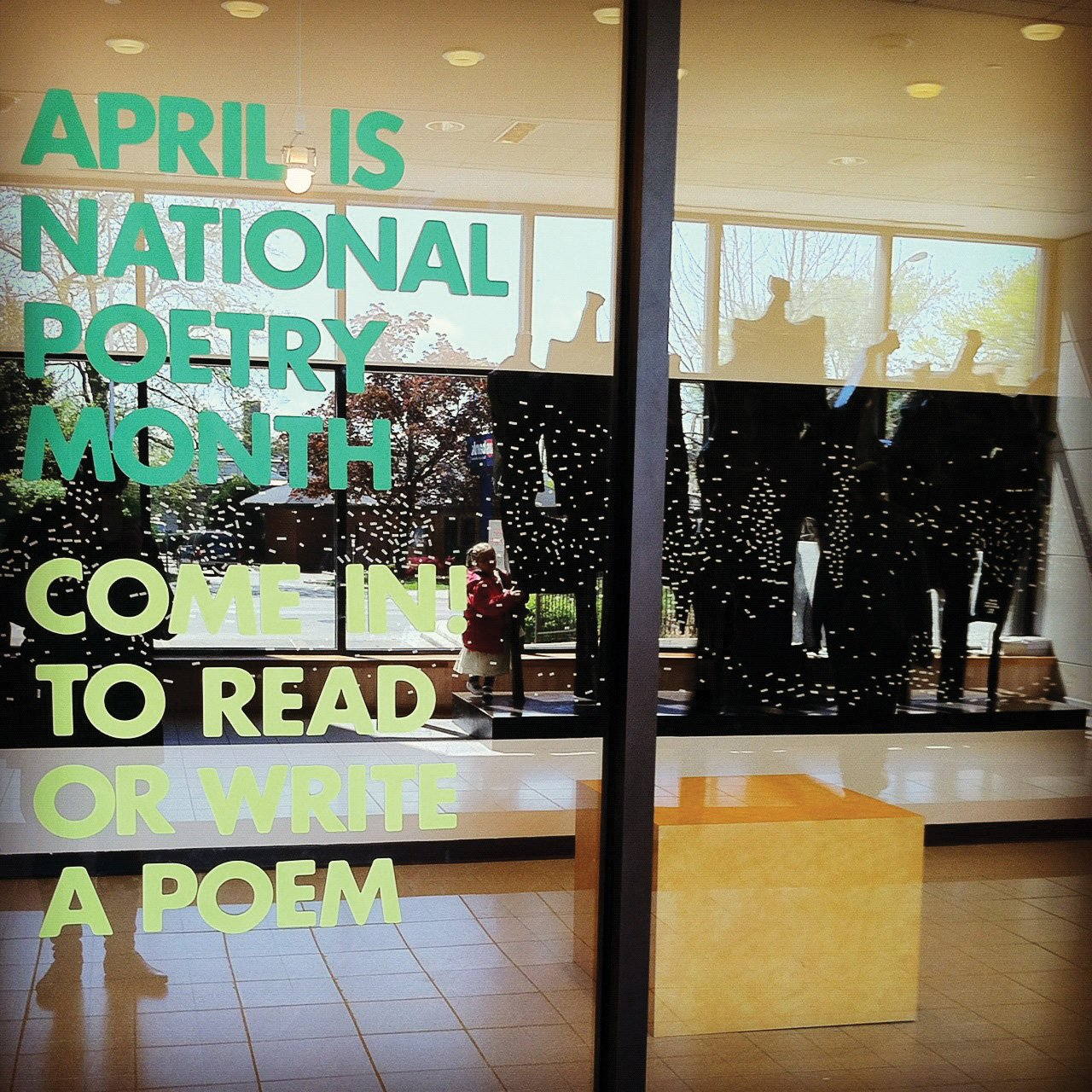Sign posted on the doors of Illinois' Oak Park Public Library./photo courtesy of the Oak Park Public Library//Flickr