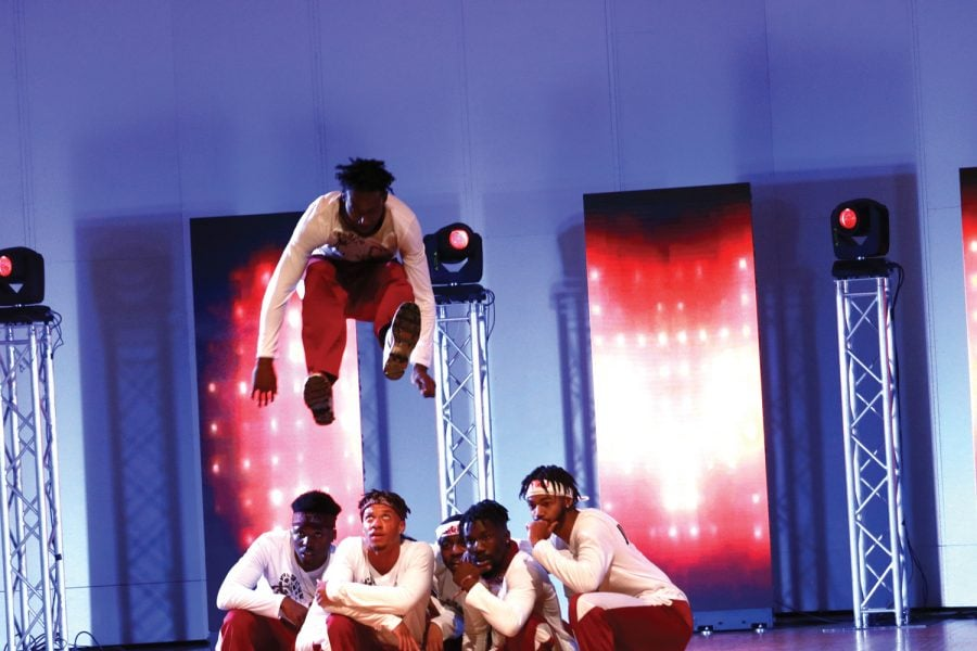 Guilford+College+hosts+its+second+annual+step+show+competition.+In+addition+to+Guilford%2C+teams+from+NCCU+also+participated+in+the+competition.+Guilford+College%E2%80%99s+Community+N%E2%80%99+Culture+step+team+took+first+place+and+won+%241%2C000+for+the+club.+The+show+was+held+in+Dana+Auditorium+on+March+29+as+a+part+of+Serendipity.+%2FPhoto+by+Abigail+Bekele%2FThe+Guilfordian++%0A