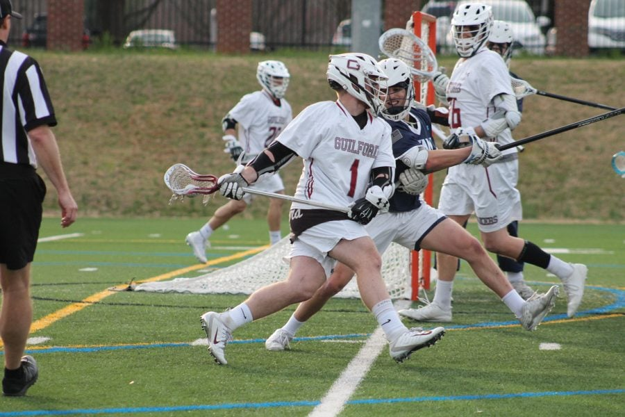 Junior+attacker+Connor+Sweeney+tries+to+get+by+a+Westminster+College+defender+on+March+13.+%2F%2FPhoto+By%3A+Deanna+Lassiter%2FGuilford+Athletics+%0A