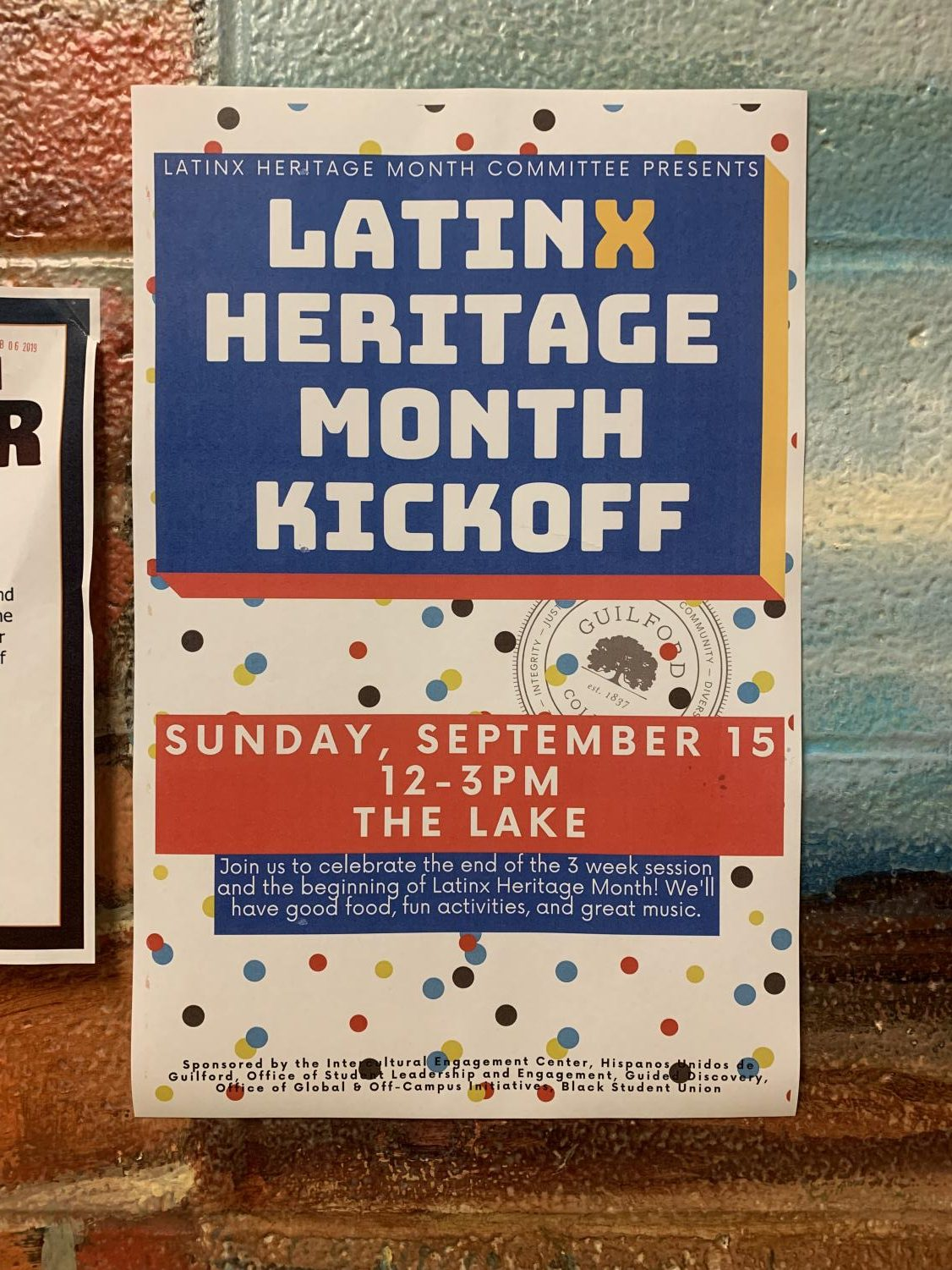 The IEC's Latinx Heritage Month kickoff on Sunday, Sept.  13, will be the first in a series of events celebrating diversity at Guilford this fall.