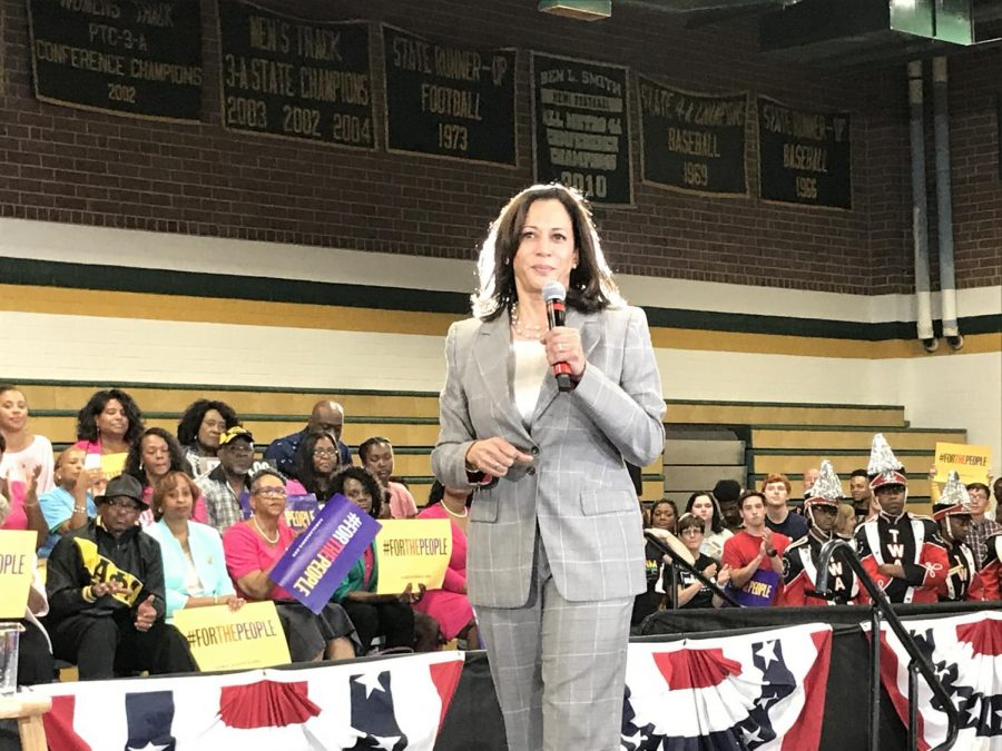Sen.+Harris+only+spoke+for+a+half-hour+during+her+Aug.+25+campaign+rally+in+Greensboro%2C+but+she+made+sure+to+cover+major+policy+points+in+her+remarks.
