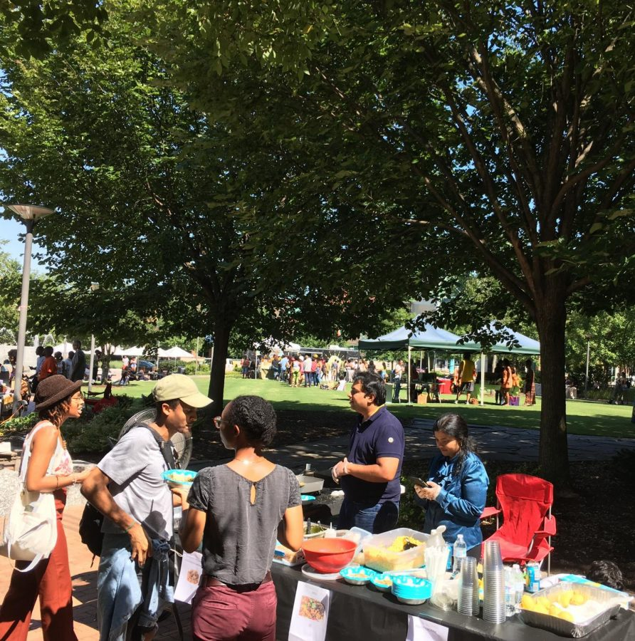N.C. Live Food Festival vendors provided samples of vegan-friendly food offerings underneath the bright  afternoon sun on Aug. 31.