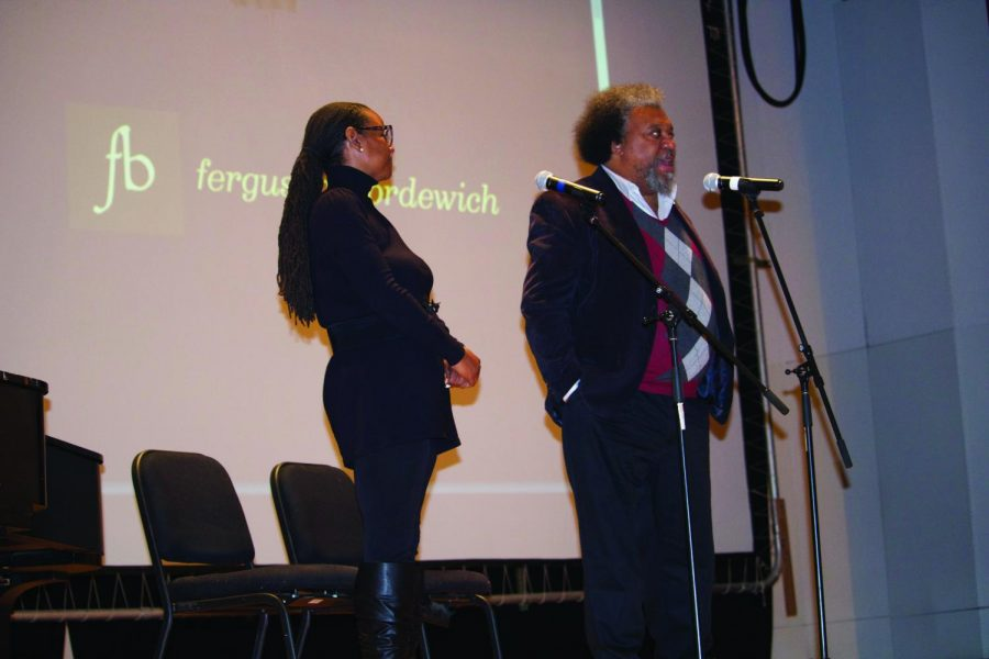 Shields and Summers sing African-American spirituals before introducing Bordewich.