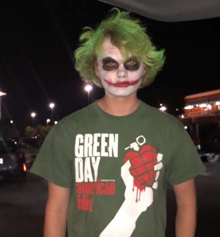 Caleb Youngdahl, pictured above in his Joker costume, was followed by a security officer at a theater in High Point and eventually had to remove the makeup because of safety concerns.